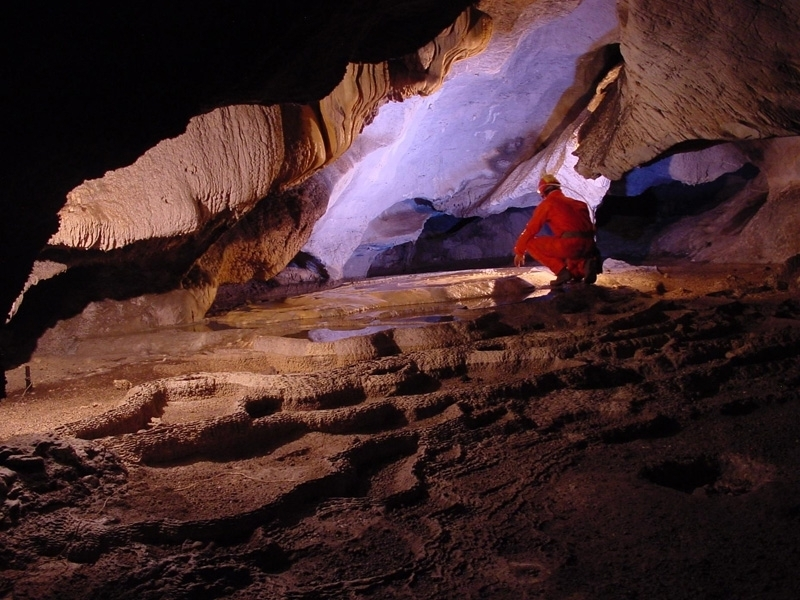 Caves of loutra pozar